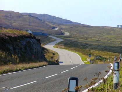 The A9 Highway through the Highlands